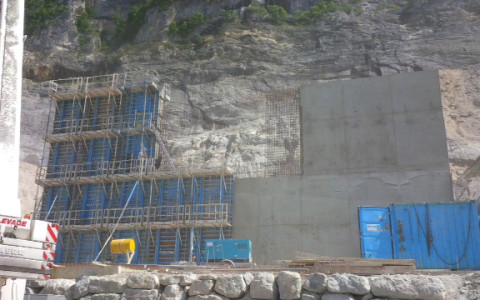 Chantier Mur de soutènement