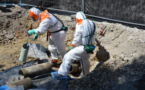 Retrait de canalisations enterrées